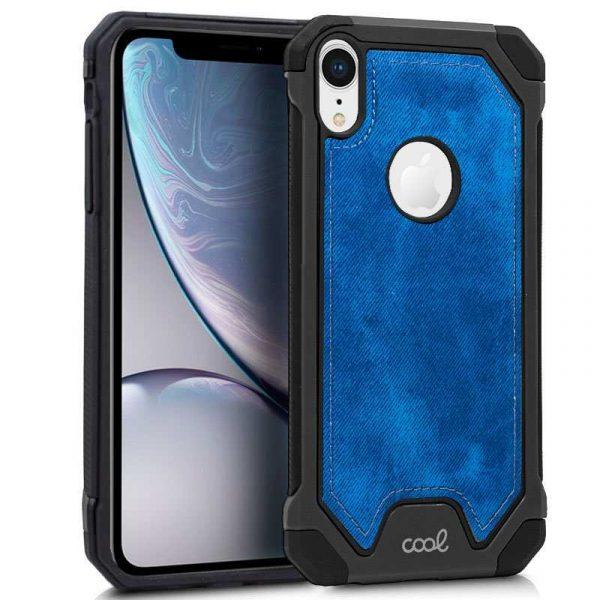 Carcasa iPhone XR Hard Tela Azul 1