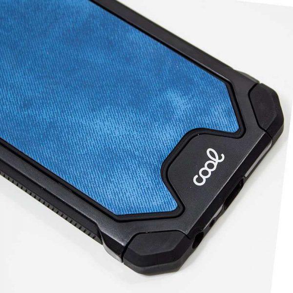 Carcasa iPhone XR Hard Tela Azul 2