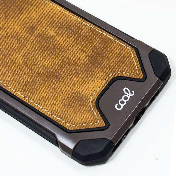 carcasa iphone xr hard tela marron2