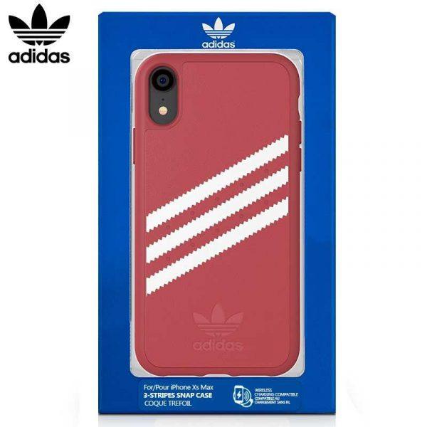 Carcasa iPhone XR Licencia Adidas Stripes Rosa 1