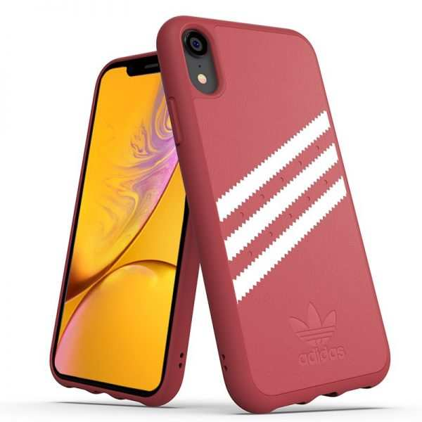 Carcasa iPhone XR Licencia Adidas Stripes Rosa 2