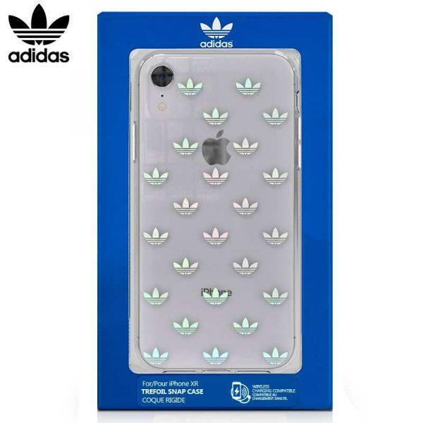 Carcasa iPhone XR Licencia Adidas Transparente Logos 1