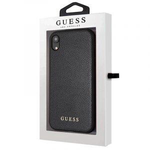 Carcasa iPhone XR Licencia Guess Piel Negro 4