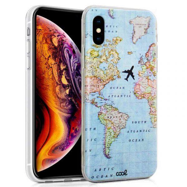carcasa iphone xs max dibujos mapa