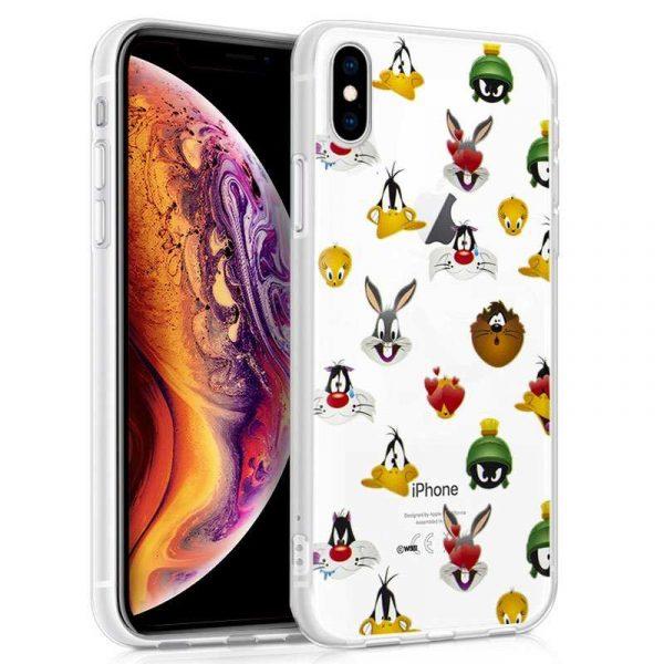 carcasa iphone xs max licencia looney tunes caras