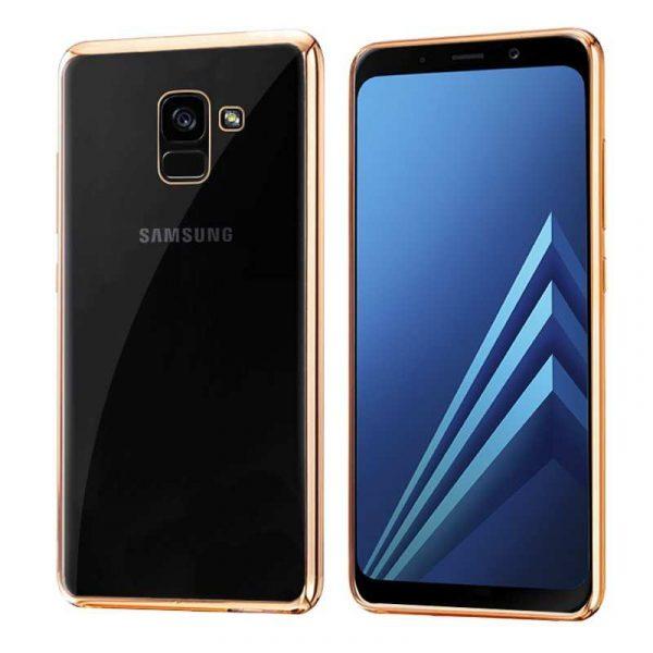 Carcasa Samsung A530 Galaxy A8 (2018) Borde Metalizado (Dorado) 1