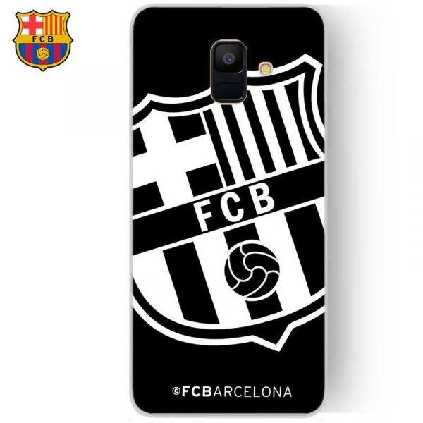carcasa samsung a600 galaxy a6 licencia futbol fc barcelona negro