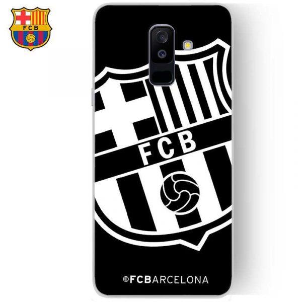 carcasa samsung a605 galaxy a6 plus licencia futbol fc barcelona negro