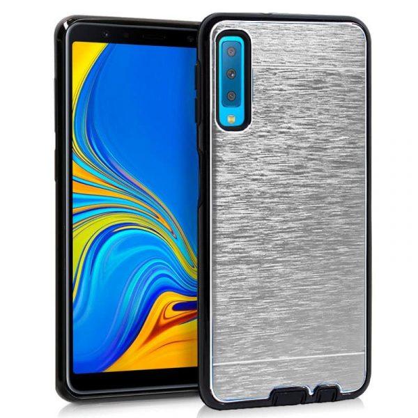 Carcasa Samsung A750 Galaxy A7 Aluminio (Plata) 1
