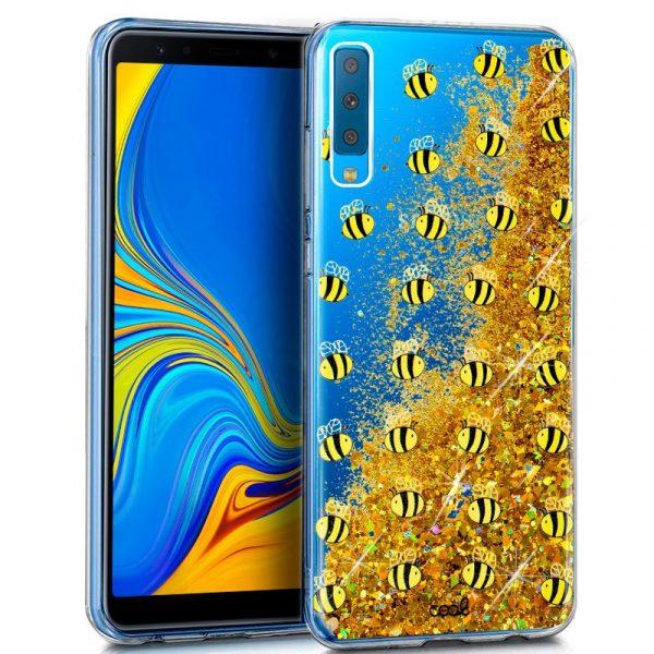 Carcasa Samsung A750 Galaxy A7 Glitter Abejas 1