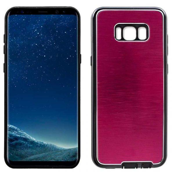 carcasa samsung g955 galaxy s8 plus aluminio rojo 1