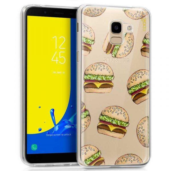 carcasa samsung j600 galaxy j6 clear burger
