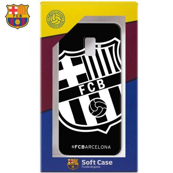 carcasa samsung j600 galaxy j6 licencia futbol fc barcelona negro 1