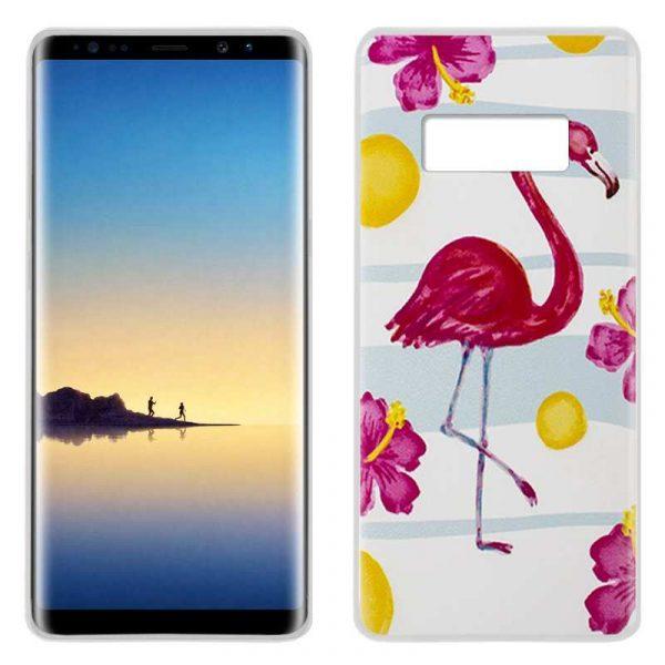 Carcasa Samsung N950 Galaxy Note 8 Dibujos Flamenco 1