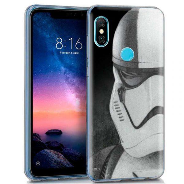 carcasa xiaomi redmi note 6 pro licencia star wars stormtrooper