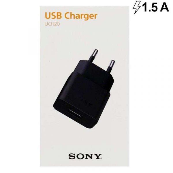 cargador red original sony micro usb negro con blister