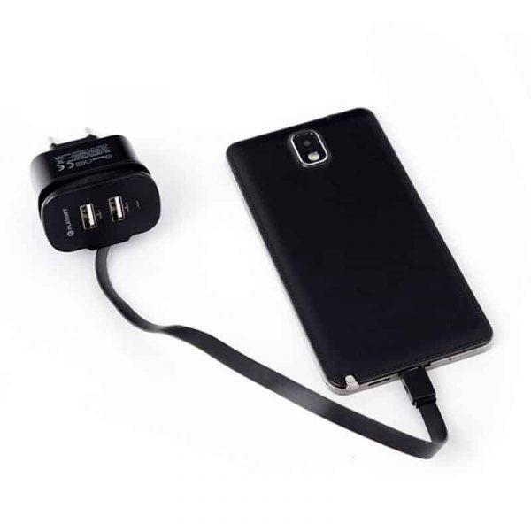 Cargador Universal Entrada 2 x USB Con Cable Micro-USB Platinet (3.4 Amp) 2