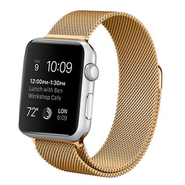 correa apple watch series 1 2 3 4 42 44 mm metal dorado 2