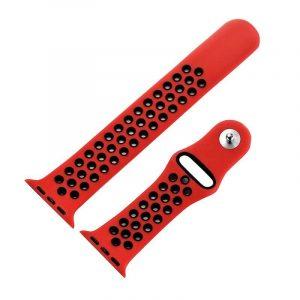 Correa Apple Watch Series 1 / 2 / 3 / 4 (42 / 44 mm) Sport Rojo 3