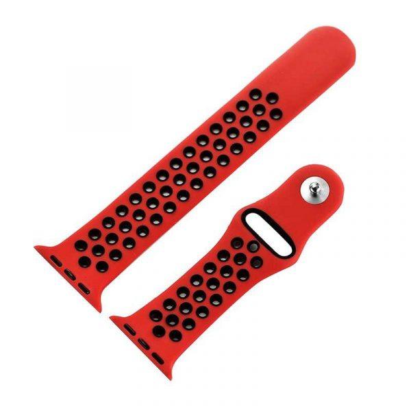 Correa Apple Watch Series 1 / 2 / 3 / 4 (42 / 44 mm) Sport Rojo 2