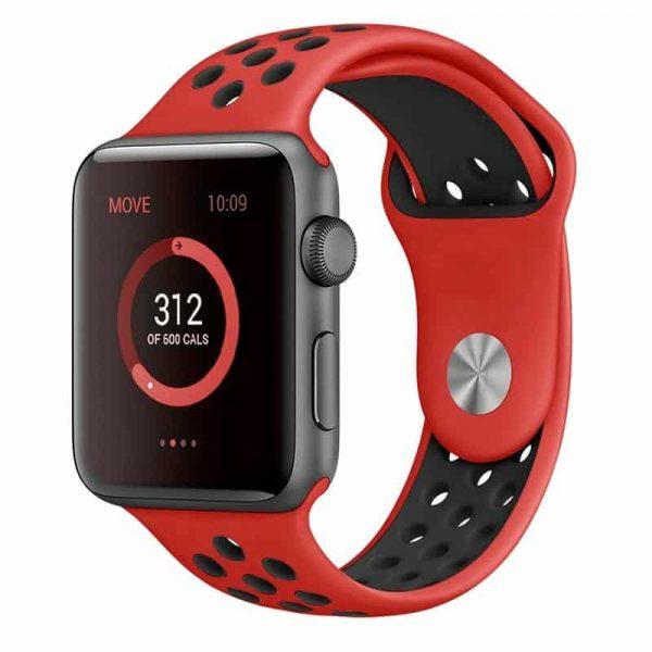 Correa Apple Watch Series 1 / 2 / 3 / 4 (42 / 44 mm) Sport Rojo 1