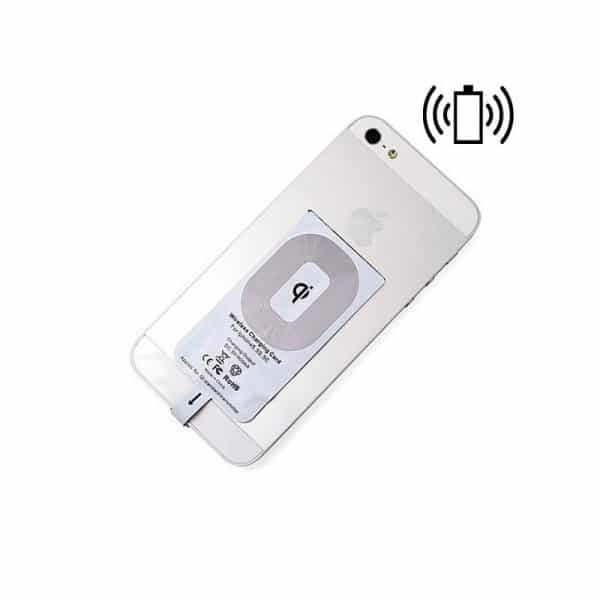 dock adaptador conector lighting iphone 5 5s 6 7 7 plus cargador inalambrico qi3
