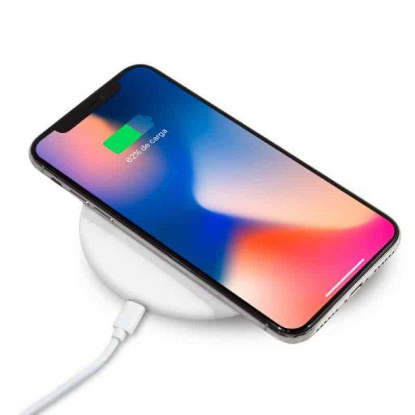 Dock Base Cargador Smartphones Qi Inalámbrico Universal (Carga Rápida) Blanco 2