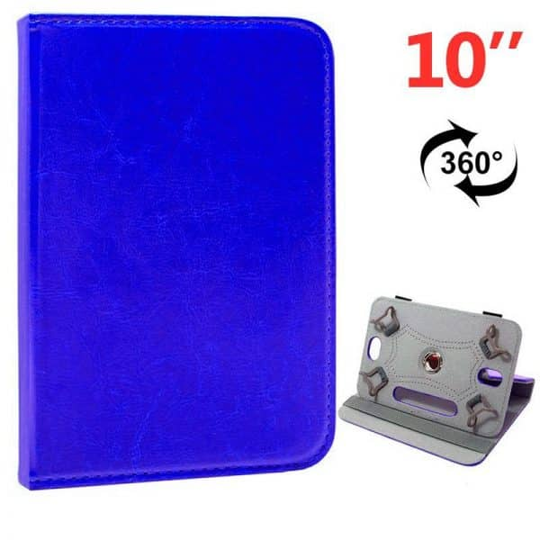 funda ebook tablet 10 pulgadas polipiel giratoria azul 2