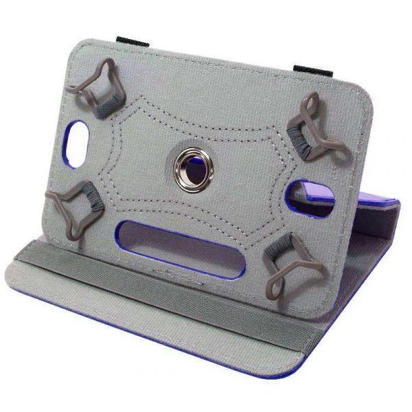 funda ebook tablet 10 pulgadas polipiel giratoria azul