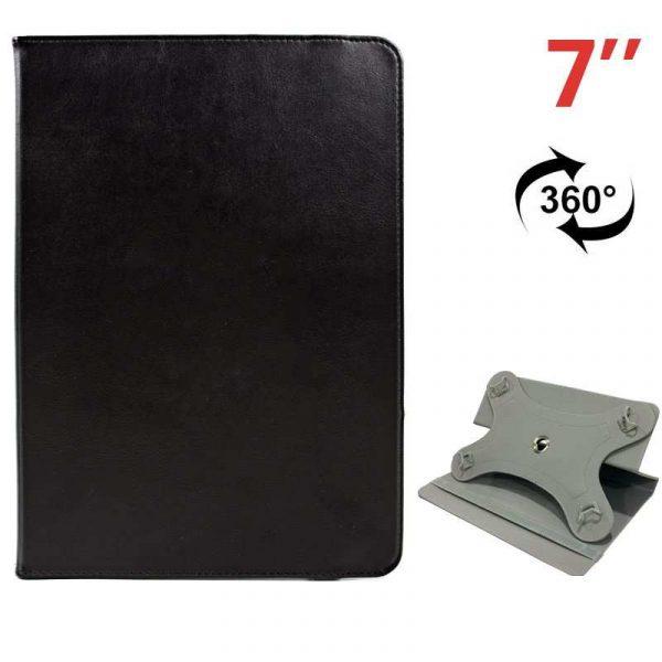 funda ebook tablet 7 pulg polipiel negro giratoria 1