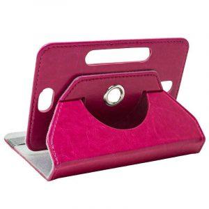 funda ebook tablet 7 pulg polipiel rosa giratoria 1