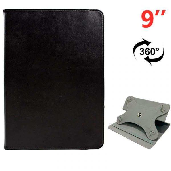 funda ebook tablet 9 pulg liso negro giratoria 1