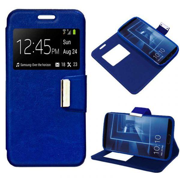 Funda Flip Cover Huawei Mate 10 Liso Azul 1