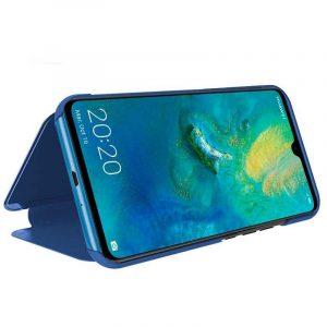 funda flip cover huawei mate 20 clear view azul 1