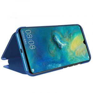 funda flip cover huawei mate 20 x clear view azul 1