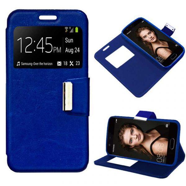 Funda Flip Cover Huawei P10 Liso Azul 1