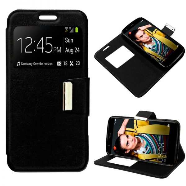 Funda Flip Cover Huawei P10 Lite Liso Negro 1