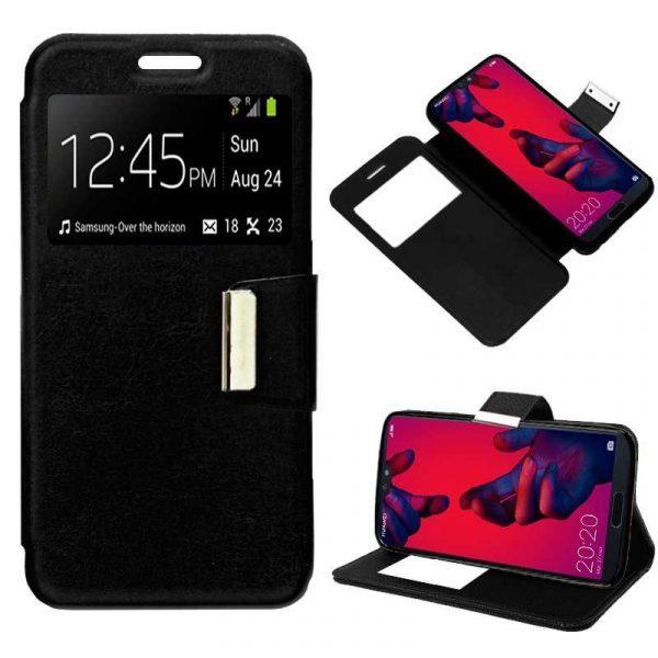 Funda Flip Cover Huawei P20 Pro Liso Negro 1