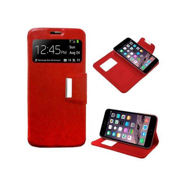 funda flip cover iphone 6 plus 6s plus liso rojo