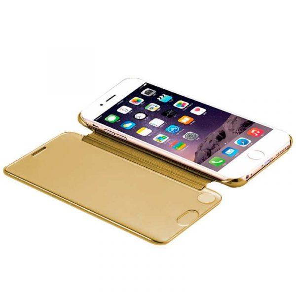 Funda Flip Cover iPhone 7 / iPhone 8 / SE 2020 Clear View Dorado 2