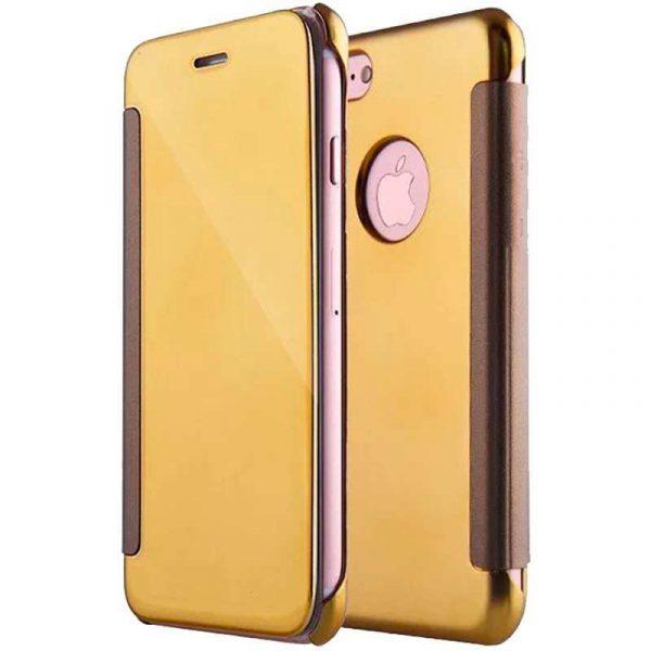 Funda Flip Cover iPhone 7 / iPhone 8 / SE 2020 Clear View Dorado 1