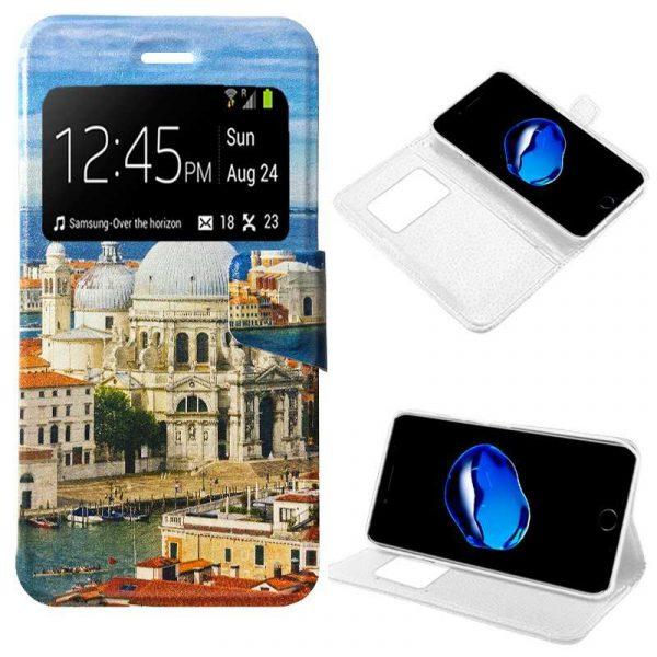 Funda Flip Cover iPhone 7 / iPhone 8 / SE 2020 Dibujos City 1