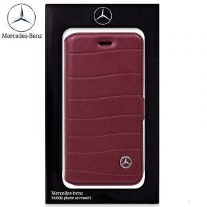 funda flip cover iphone 7 iphone 8 licencia mercedes benz rojo 1