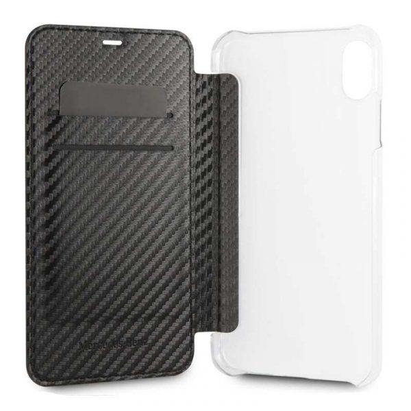 funda flip cover iphone xr licencia mercedes benz negro 1
