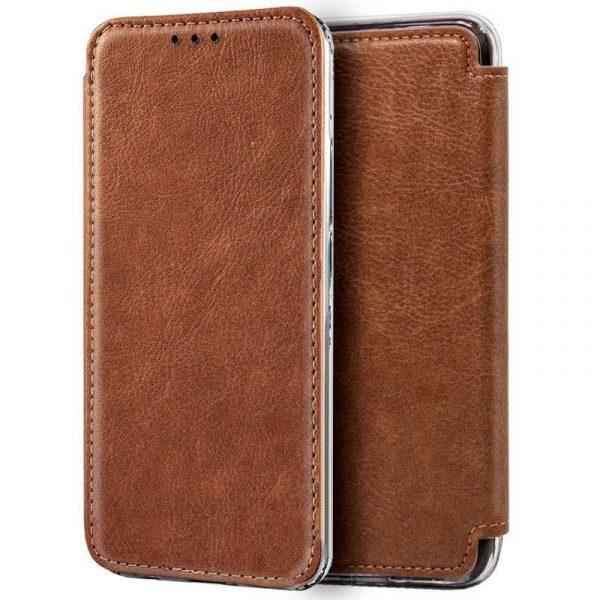 funda flip cover iphone xs max leather marron 1