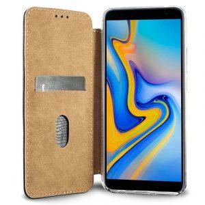 Funda Flip Cover Samsung J610 Galaxy J6 Plus Leather Marrón 5