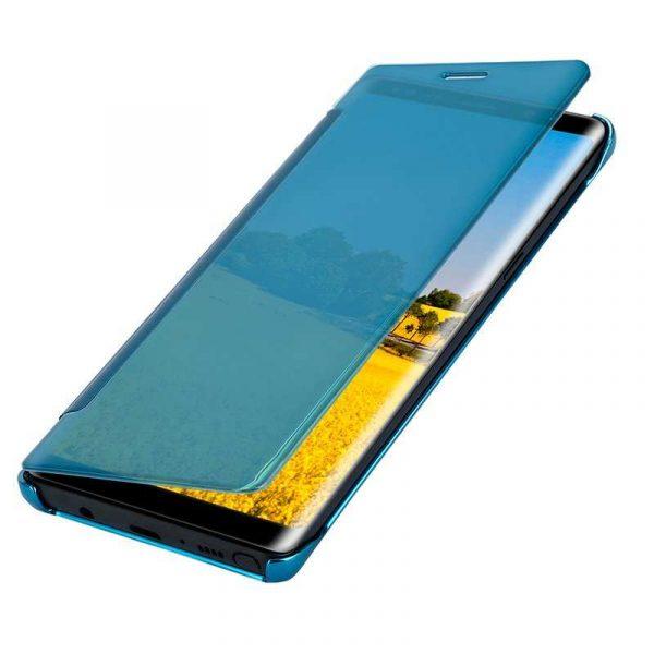 funda flip cover samsung n950 galaxy note 8 clear view azul