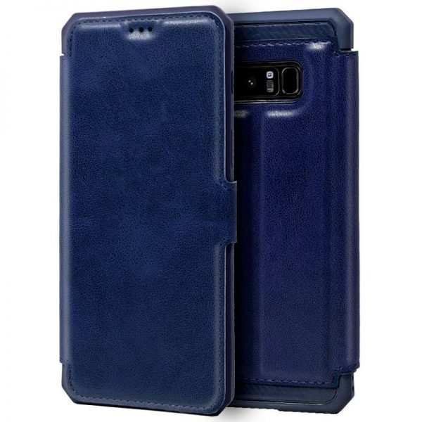 funda flip cover samsung n950 galaxy note 8 leather azul 1
