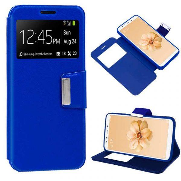 Funda Flip Cover Xiaomi Mi A2 / Mi 6X Liso Azul 1