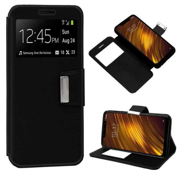 Funda Flip Cover Xiaomi Pocophone F1 Liso Negro 1